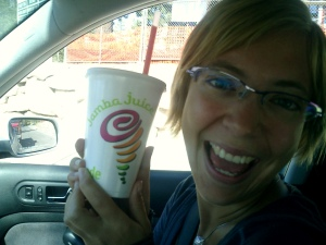 Free smoothies always taste better!